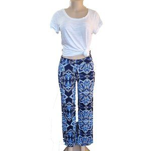 Spense Blue Small Printed Pant Poly/Spande…